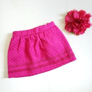 Osh Kosh 3T Girls Skirt Bright Pink Brocade